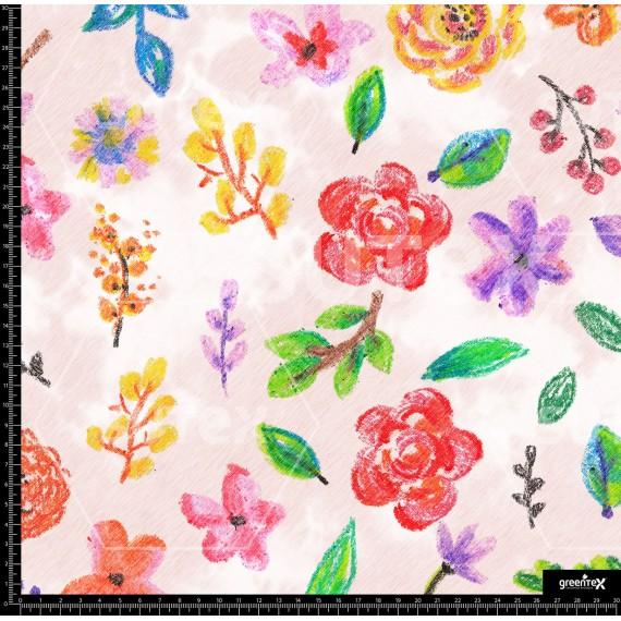 114938 Flowers crayon R